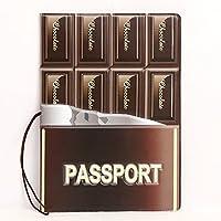 Ducomi® Funny Travel- Custodia Passaporto Unisex con Stampe Supereroi e Figurative - Porta Passaporto da Viaggio - Dimensioni: 14 x 10 x 0,4 cm (Chocolate)