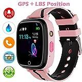 GPS Smartwatch per Bambini,GPS Tracker Smartwatch Regalo per Ragazzi Ragazze,Orologio per Bambini GPS Tracker Localizzatore, SOS Fotocamera Contapassi Torcia sveglia, Regalo Ragazzi e ragazze