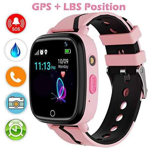 YENISEY GPS Smartwatch para Niños,WiFi Reloj Rastreador de TeléFono para Niñas y...