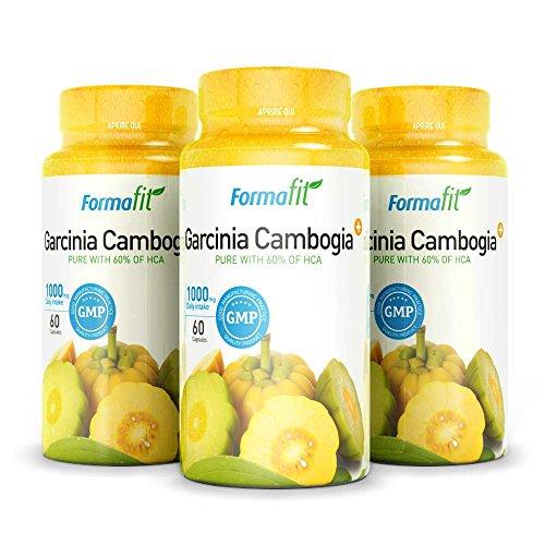 Garcinia Cambogia 1000mg 60% HCA - 3 Packungen - 180 Kapseln. Starker appetithemmer und fettverbrenner. Verhindert die fettspeicherung und fördert die effektive gewichtsabnahme!