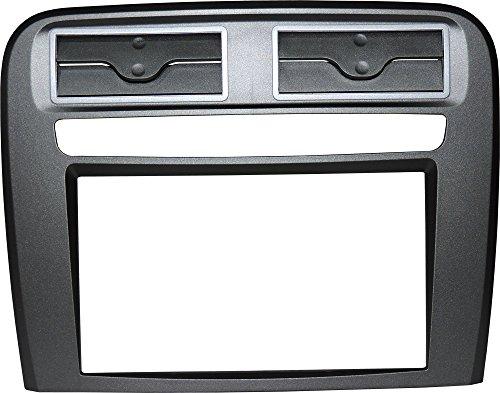 Mascherina autoradio 2 DIN Kit installazione completo staffe montaggio stereo PURO senza cornice per radio con monitor motorizzato. Colore ANTRACITE.