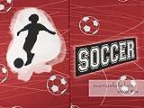 Mamasliebchen Jersey-Stoff Fußball Fußbälle Rot Jungs Junge Soccer #Fire (1Panel, ca 0,65m x 1,50m)