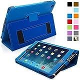 Snugg iPad Mini & Mini 2 Case - Smart Cover with Flip Stand & Lifetime Guarantee (Electric Blue Leather) for Apple iPad Mini & Mini 2 with Retina