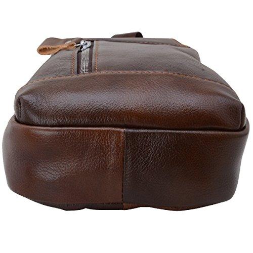 Yy.f Brusttasche Erste Schicht Von Ledertaschen Männer Schulterkurierbeutel Sporttaschen Geldbörsen Diagonale M-Paket Farbe 2 Black