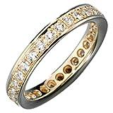 JOBO Memory-Ring 585 Gold Gelbgold mit Diamant-Brillanten 0,75ct. Größe 54