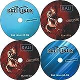 #8: (2018.1 Latest Version) Kali Linux 64 Bit + Kali Linux Mate 64-Bit + Kali Linux Xfce 64 Bit + Kali Linux 32 Bit Bootable Installation 4 in 1 DVD Combo