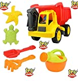 #4: Toy Arena Sand Dump Truck Beach Playset - 7 Piece Kids Sand Toys Set for Boys & Girls