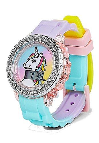 Justice Reloj LED con luz Brillante de Unicornio para niñas