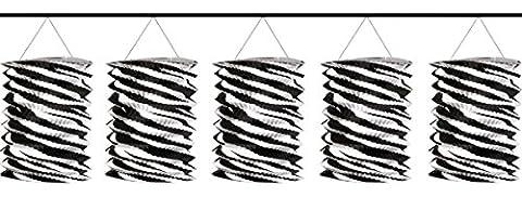 Amscan Zebra Paper Lantern Garland