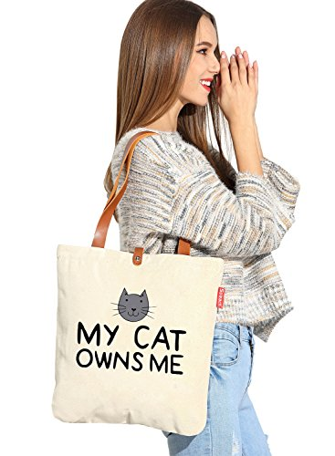 So 'each da donna My Cat possiede me Graphic Tela Borsa Shopper Shopping Bag