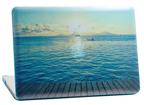 MacBook Pro Retina 33cm Gummierte Hartschale für Modell A1502und A1425, Grafico Good Morning Ocean Design mit Blau Unten Fall, kommen mit Keyboard Cover