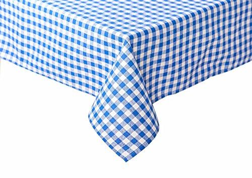 Landhaus Tischdecken in Karo blau 80 x 80 cm Baumwolle