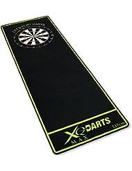 Dartmatte schwarz/grün 237x80cm - Dartteppich - Turnier-Dartmatte