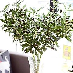 Idea Regalo - rainbowhh Rami di olivo Europei Artificiali con Foglie di ulivo per la casa Hotel Matrimonio Decorazione Fai da Te Fiori Piante Foglia di Corona