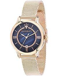 MASERATI Reloj Analógico para Mujer de Cuarzo con Correa en Acero Inoxidable R8853118503