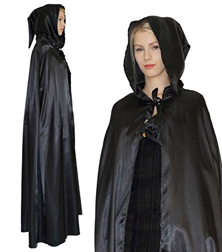 (MAYLYNN 15235 - Vampir Umhang Mittelalter Cape Kostüm Hexe für Damen)