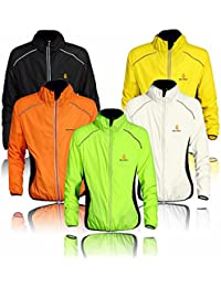 Veste de cyclisme de vêtements de sport de course à pied à manches longues Vent Pluie Manteau imperméable pour chien à séchage rapide coupe-vent printemps automne de vélo 5couleurs