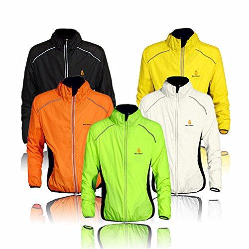Damen Yellow Regen-mantel (Radfahren Jacke Trikot für Männer Frauen Damen Wasserdicht, Zyklus Weste Wind Mantel Mit Spiegelnden Schnallt Winddichte Atmungsaktive Fahrrad Windjacke, Fahrrad - Zubehör)