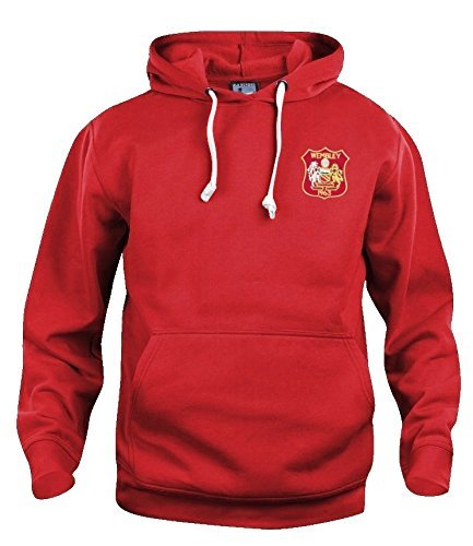 Manchester United 1963 Retro Fußball Training Kapuze - S-XXXL - M - Manchester Pullover United