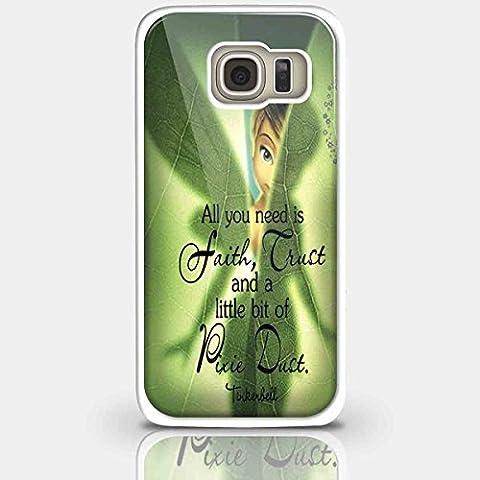 Tinkerbell Hide in the Blatt für iPhone und Samsung Galaxy Fall (Samsung Galaxy S6weiß)