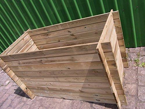 BIHL Stabiler Holzkomposter Komposter Kompostbehälter Hochbeet 170 x 85 x 94 cm