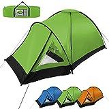 Kuppel-Zelt SUNSCOUT für 3 Personen Wassersäule 3000 von BB Sport, Farbe:grün