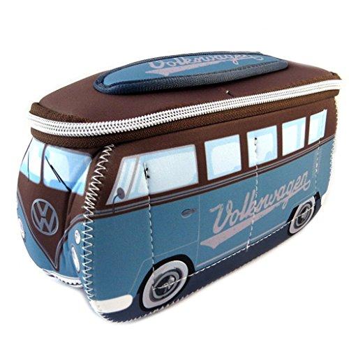 Volkswagen [P1131] - Trousse de Toilette 'Volkswagen' Marron Bleu - 23x13x7.5 cm