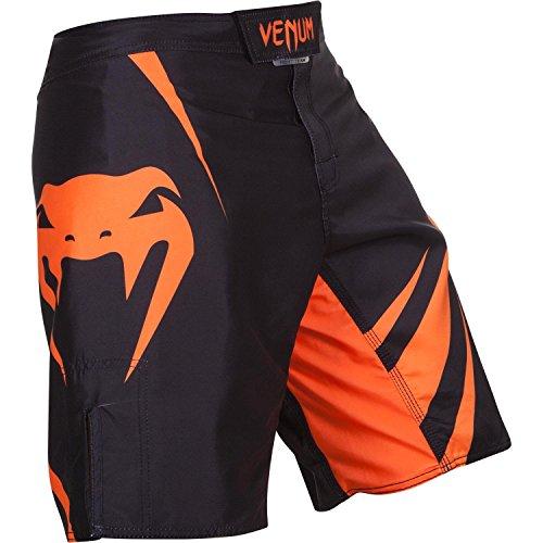 Venum Fight Shorts Challenger, Größe:S;Farbe:Schwarz / Neonorange