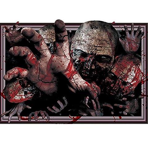 Aufkleber 3D Wand-Aufkleber Horror-Schädelkopf Geist-DIY schrecklicher Geist-blutiger Kopf-Gesichts-Aufkleber Halloween-Dekor-Abziehbild