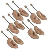 DELFA Holz Spiralfeder Schuhspanner 38/39 (Set von 5 Paar)