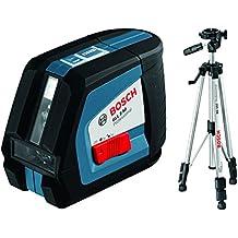 Bosch GLL 2-50 Professional - Nivelador láser (1.5 V, 57 mm, 118 mm, 89 mm) Negro, Azul