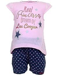 Lee Cooper Juntos Camiseta Mangas cortas y Pantalones corte Bebé Niñas Princesses