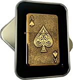 Best Star Lighters - Antique Gold Star Lighter with Lucky Ace of Review