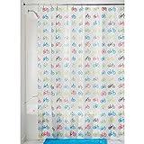 InterDesign Bikes Schimmel-/Spakresistenter Wasserdichter Duschvorhang aus PEVA, 183 x 183 cm, mehrfarbig