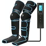 Masseur de Jambes, Masseur de Pieds, compression d'air des jambes avec contrôleur portable 6 modes 3 intensités, rechargeable