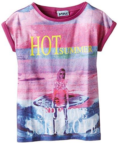 Bimbus - Maglietta T-Shirt M/M Jersey Stampa Hot Summer, Porpora (083 Ciclamino), 8 Anni (128 cm)