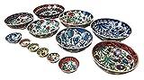handgefertigt Türkisch Blumenmuster Marokkanische Mosaik Muttern Erdnüsse Oliven Früchte Schale Teller NEU - 8cm