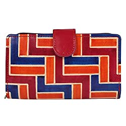 Anekaant Natura Women Genuine Leather Red and Multicolor Wallet