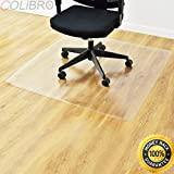 """COLIBROX 47"""" x 47"""" PVC Chair Floor Mat Home Office Protector for Hard Wood Floors New. Office Chair mat for Hardwood Floor."""
