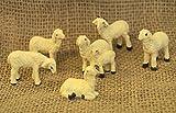 Schafe 6 teilig handbemalt für 9-12 cm Figuren aus Polystonematerial