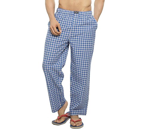 Clifton Men's Woven Track Pant - Blue White Checks - XX-Large