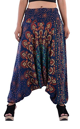 Textile export creations Men's and Women's Combo Pack of Cotton Semi Patiala Salwar and Capris Pajama Yoga Pants (Multicolour, Free Size)