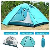 Outad Tente 2personnes imperméable pliable portable léger double couche...