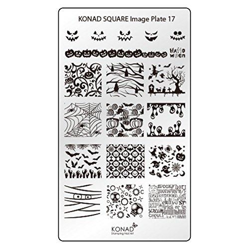 Kürbis Einfache Schablonen (Original KONAD Square 17 Stamping Schablone - SQUARE No. 17 Image Stamping)