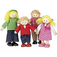 Tidlo T-0126 Wooden House Family Doll