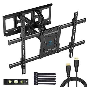 TV Wandhalterung Schwenkbar Neigbar max.VESA 600x400mm für 37-70zoll Flach & Curved Fernseher oder Monitor bis zu 60kg