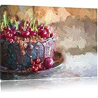 Celeste torta al cioccolato effetto pennello, formato: