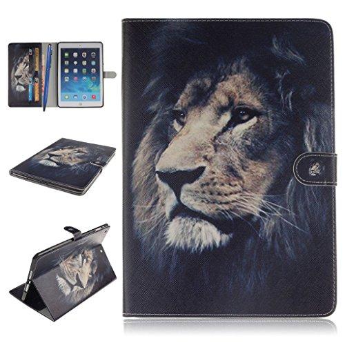 iPad Air Funda,Careynoce Atrapasueños León Tigre Pattern Flip PU Cuero Carcasas Funda Case Cover para Apple iPad Air iPad 5 (9.7 pulgada) - León