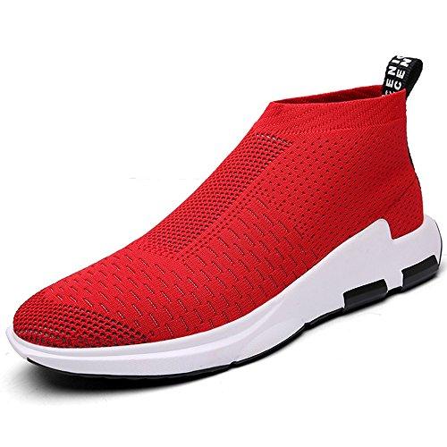 SITAILE Herren Sportschuhe Sneaker Outdoor Sport Laufschuhe Freizeit Atmungsaktive Schuhe,rot,44