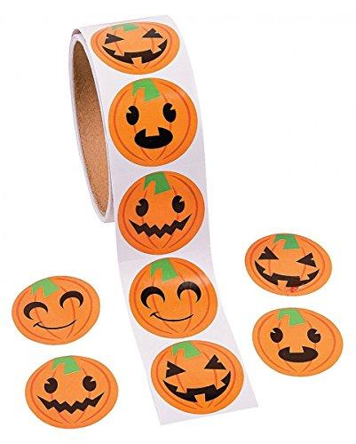 Roll Halloween Stickers (Jack Lantern Halloween)